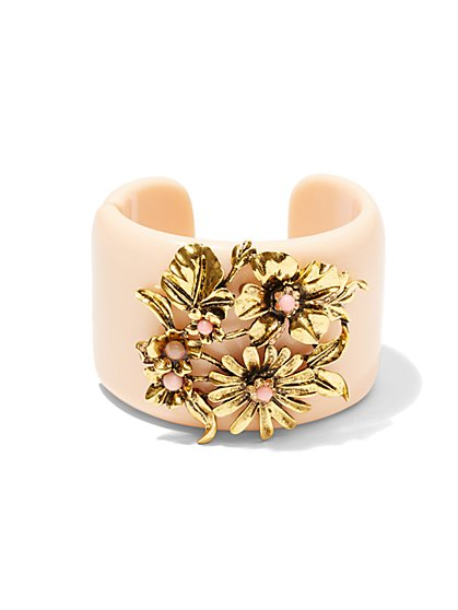 Eva Mendes Collection - Floral Cuff Bracelet   - New York & Company
