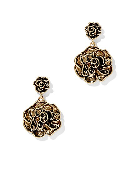 Eva Mendes Collection - Floral Drop Earring   - New York & Company