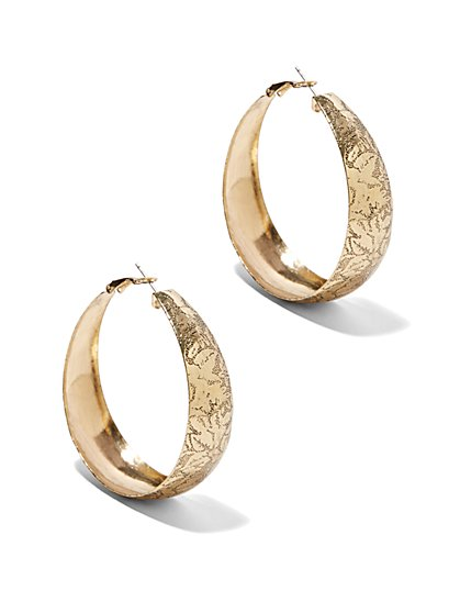 Eva Mendes Collection - Floral Filigree Hoop Earring  - New York & Company
