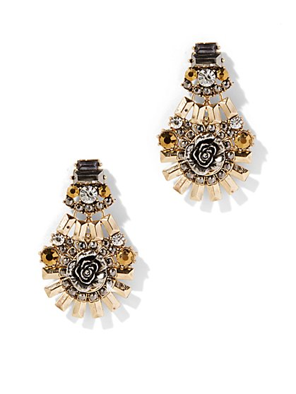 Eva Mendes Collection - Floral Metallic Earring  - New York & Company