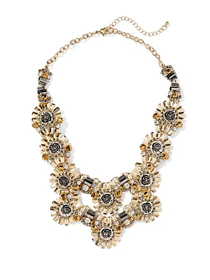 Eva Mendes Collection - Floral Metallic Necklace  - New York & Company
