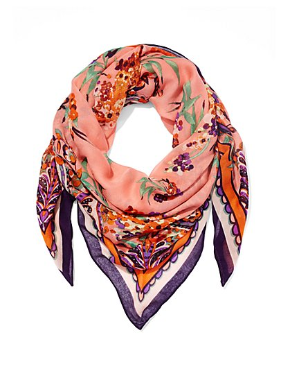 Eva Mendes Collection - Floral Scarf  - New York & Company
