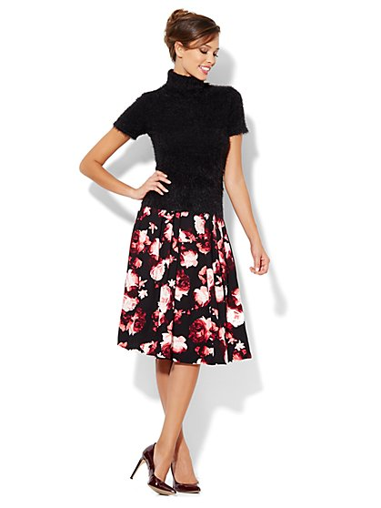 Eva Mendes Collection - Floral Skirt - New York & Company