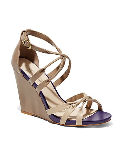 Eva Mendes Collection - Florence Wedge Sandal - New York & Company