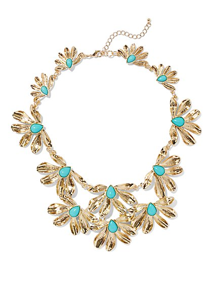 Eva Mendes Collection - Flower Bib Necklace  - New York & Company