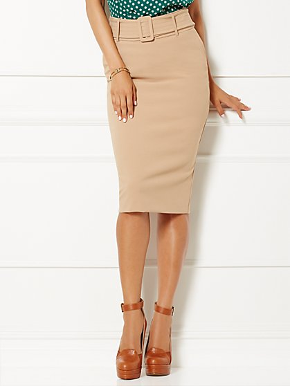 Eva Mendes Collection - Frankie Belted Pencil Skirt  - New York & Company