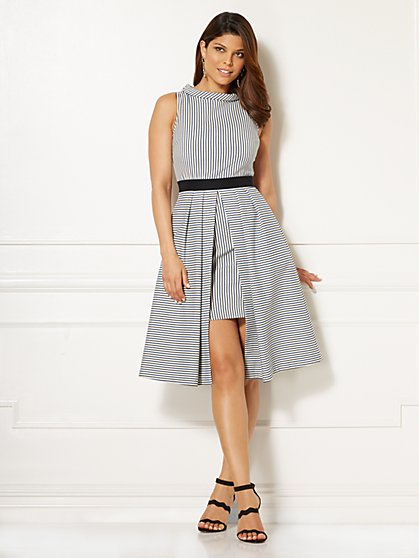 Eva Mendes Collection - Freya Dress - Mixed Stripe - New York & Company