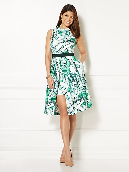 Eva Mendes Collection - Freya Dress - Palm Print - Petite - New York & Company