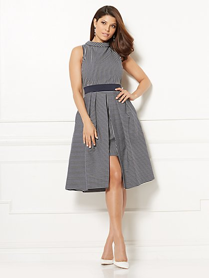 Eva Mendes Collection - Freya Fit & Flare Dress - Petite - New York & Company