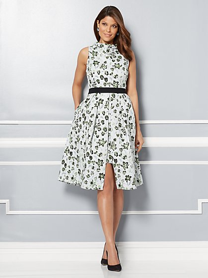 Eva Mendes Collection - Freya Floral Jacquard Dress - New York & Company