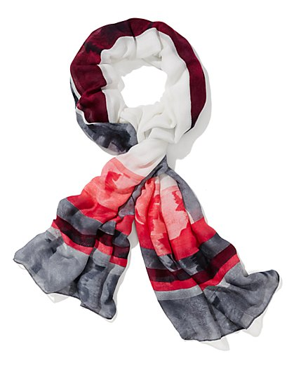 Eva Mendes Collection - Fuchsia Print Scarf - New York & Company