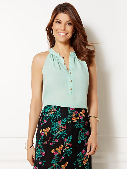 Eva Mendes Collection - Gabby Halter Blouse  - New York & Company
