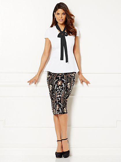 Eva Mendes Collection - Gemma Bow Blouse  - New York & Company