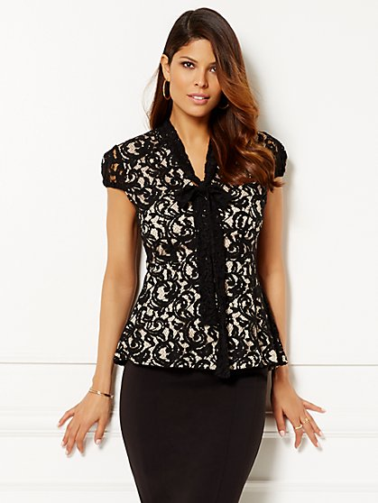 Eva Mendes Collection - Gemma Lace Top  - New York & Company