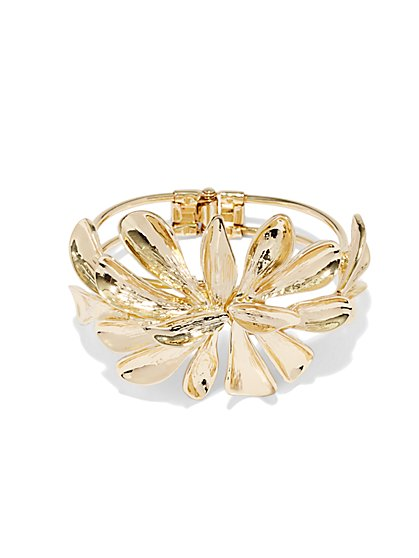 Eva Mendes Collection - Gold Flower Bracelet  - New York & Company