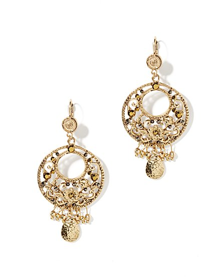 Eva Mendes Collection - Gold Teardrop Earrings