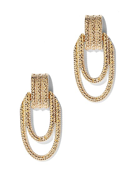 Eva Mendes Collection - Gold Textured Earring - New York & Company
