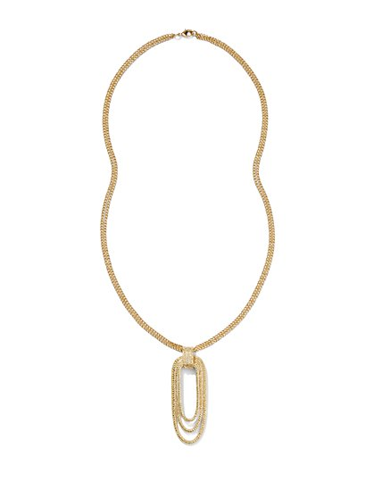 Eva Mendes Collection - Gold Textured Necklace - New York & Company