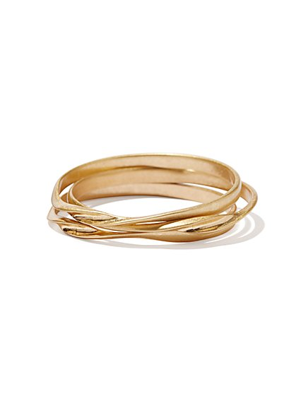 Eva Mendes Collection - Golden Twist Bangles