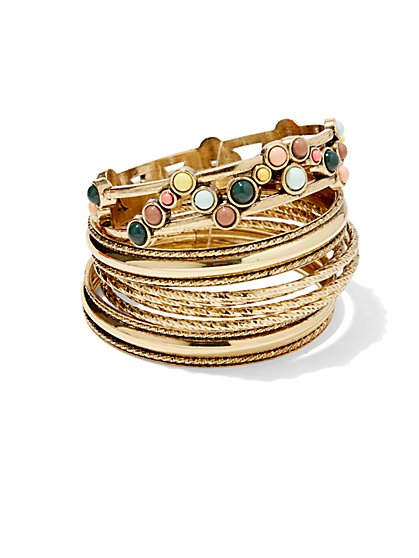 Eva Mendes Collection - Goldtone Bangle Set  - New York & Company