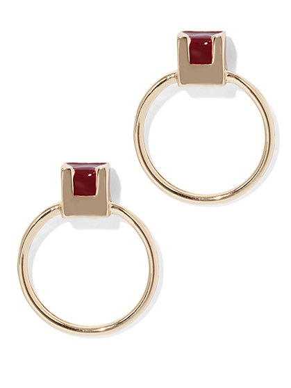 Eva Mendes Collection - Goldtone Hoop Earring  - New York & Company