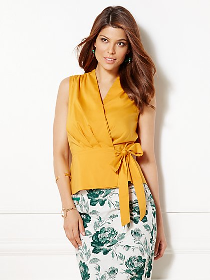 Eva Mendes Collection - Hanna Wrap Blouse  - New York & Company