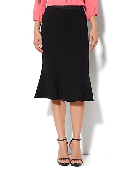 Eva Mendes Collection - Hayley Flare Skirt - Black