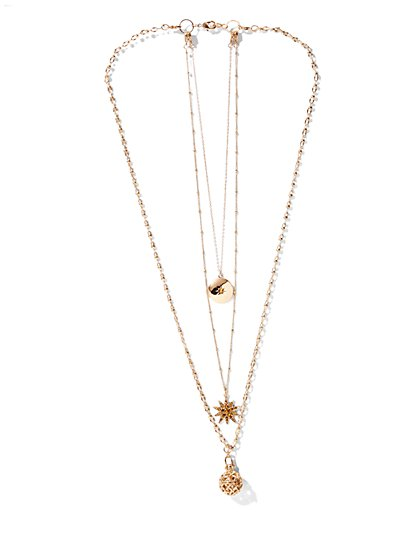 Eva Mendes Collection - Holiday Charm Necklace  - New York & Company