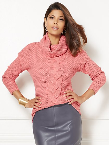 Eva Mendes Collection - Holly Cable-Knit Sweater  - New York & Company