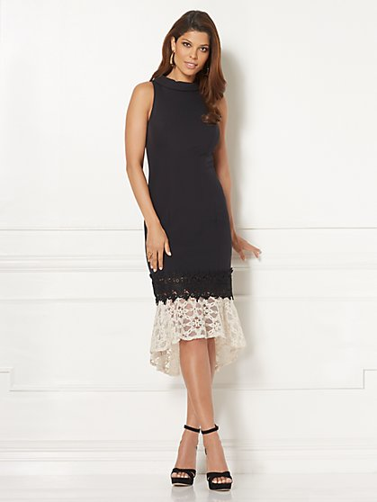 Eva Mendes Collection - Iara Lace-Flounce Sheath Dress - New York & Company