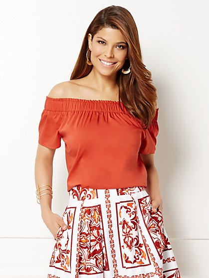 Eva Mendes Collection - Inez Off-The-Shoulder Blouse  - New York & Company