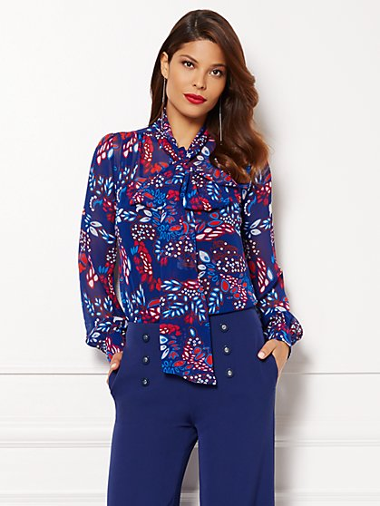 Eva Mendes Collection - Isabella Blouse - Floral   - New York & Company