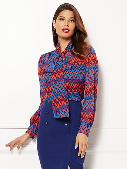 Eva Mendes Collection - Isabella Blouse - Zigzag  - New York & Company