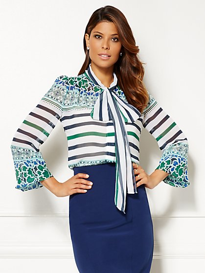 Eva Mendes Collection - Isabella Bow Blouse - Print - New York & Company