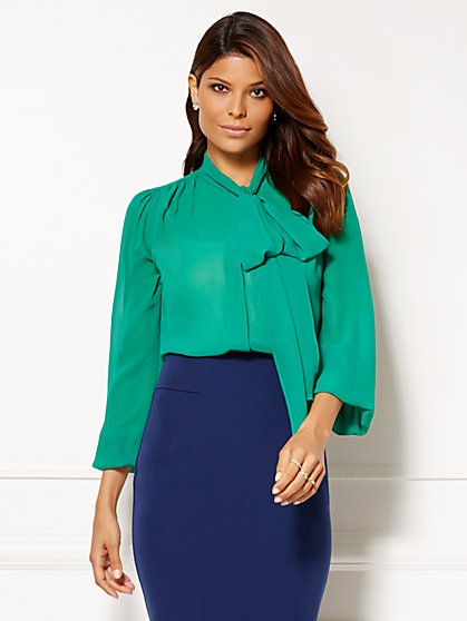 Eva Mendes Collection - Isabella Bow Blouse - New York & Company