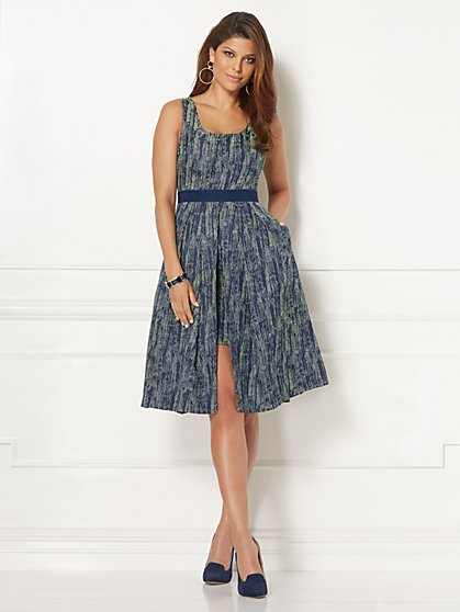 Eva Mendes Collection - Jacquard Freya Dress - Petite - New York & Company
