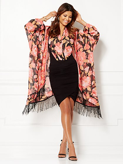 Eva Mendes Collection - Jacqueline Kimono - Multi Floral - New York & Company