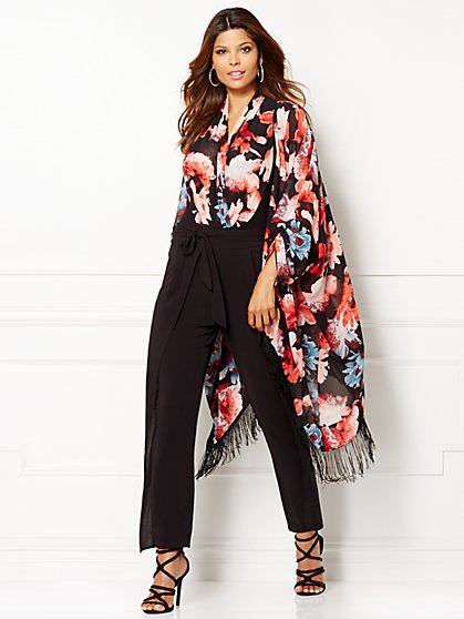 Eva Mendes Collection - Jacqueline Kimono - Rose Floral - New York & Company