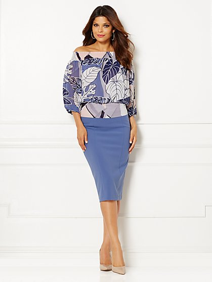Eva Mendes Collection - Jane Tie-Waist  Blouse - Print  - New York & Company