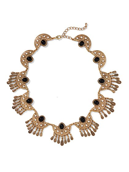 Eva Mendes Collection - Jeweled Fringe Choker  - New York & Company