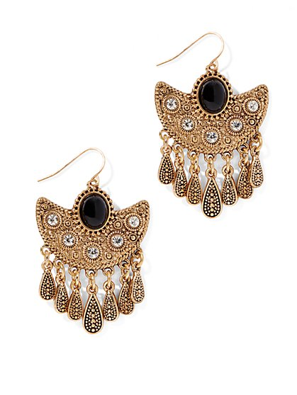 Eva Mendes Collection - Jeweled Fringe Earring  - New York & Company