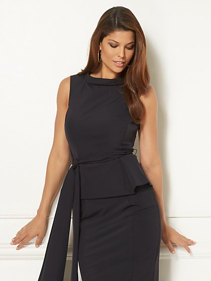 Eva Mendes Collection - Joana Belted Peplum Top - New York & Company