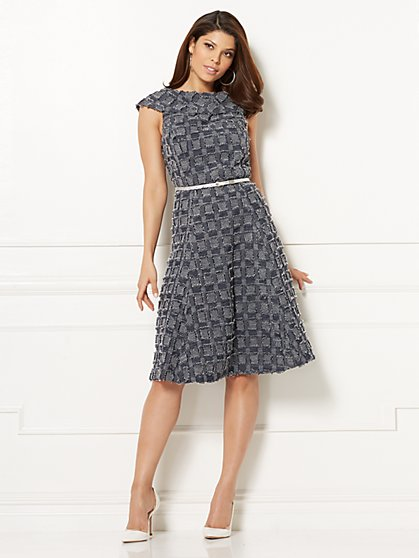 Eva Mendes Collection - Kata Fit & Flare Dress - Petite - New York & Company