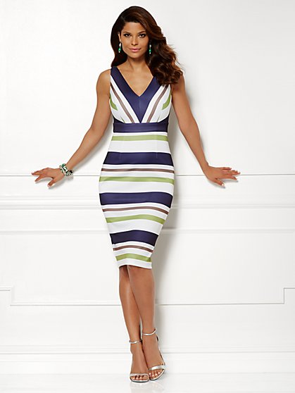 Eva Mendes Collection - Kate Dress - Striped - New York & Company