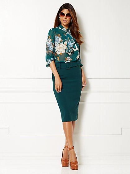 Eva Mendes Collection - Kayla Blouse - Floral Print  - New York & Company