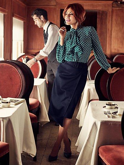 Eva Mendes Collection - Kayla Blouse - Polka-Dot Print  - New York & Company