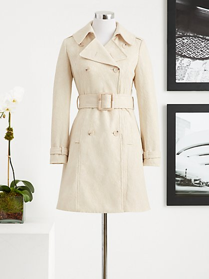 Eva Mendes Collection - Kelsey Lace Trench Coat