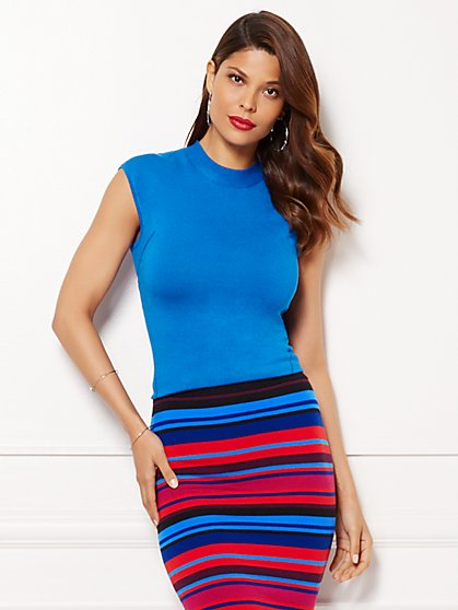 Eva Mendes Collection - Knit Shell - Solid  - New York & Company