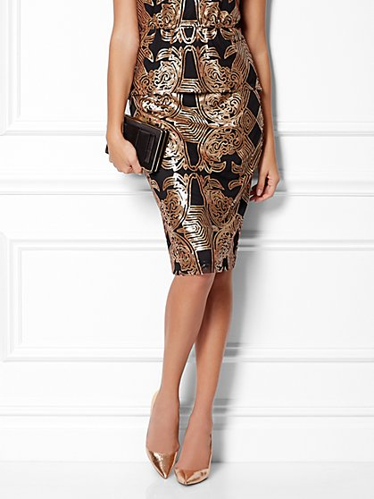 Eva Mendes Collection - Kristina Sequin Skirt - New York & Company