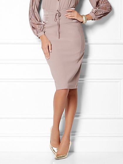 Eva Mendes Collection - Lace-Up Skirt - New York & Company